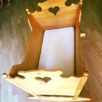 Dřevná kolébka + matrace