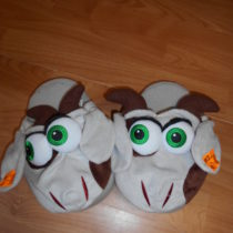 Plyšové pantofle