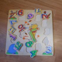 Hodiny/puzzle medvídek PÚ