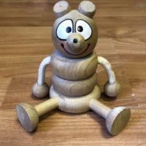 Dřevěný skládací medvídek
