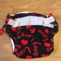 Sweet Monkey kalhotky na pleny na suchý zip – erné/LOVE