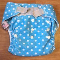 Sweet Monkey kalhotky na pleny na suchý zip – modré spuntíky