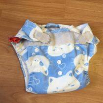 Sweet Monkey kalhotky na pleny na suchý zip – modré skočkou