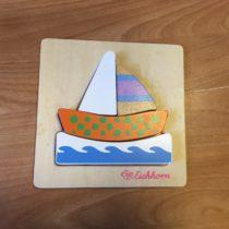Dřevěné puzzle Loď Eichhorn