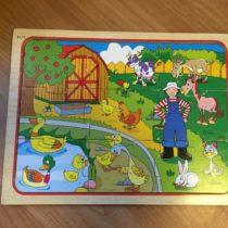 Dřevěné puzzle Farmář