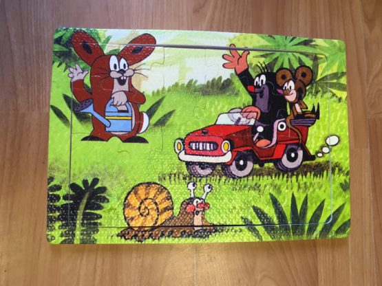 Pěnové puzzle Krtek/auto