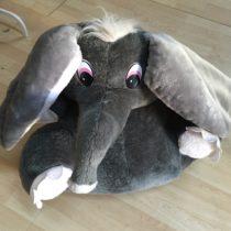 Velký plyšový slon/křesílko