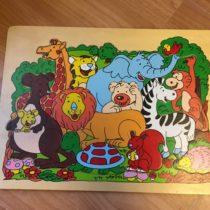 Dřevěné puzzle Zvířátka safari