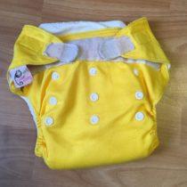 Sweet Monkey kalhotky na pleny na suchý zip – žluté