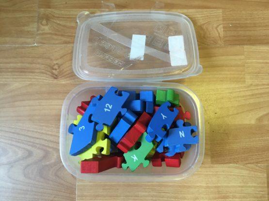 Set dřevěné puzzle/písmenka