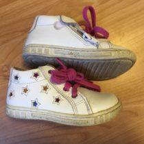 Kožené, kotníčkové boty Santé
