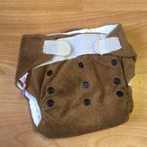 Sweet Monkey kalhotky na pleny na suchý zip – hnědé