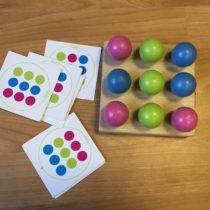 Mamiee dřevěná logická hra – Kuličky