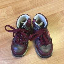 Kožené, kotníčkové boty Peddy