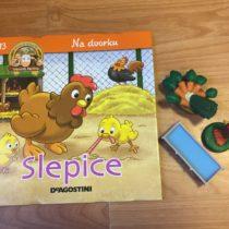 Dětská kniha ze série Hraj si a uč se – Na dvorku – Slepice