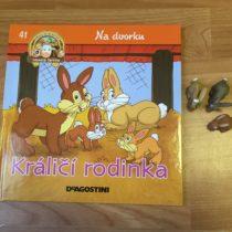Dětská kniha ze série Hraj si a uč se – Na dvorku – Králičí rodinka