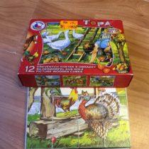 Dřevěné kostky 12ks TOPA