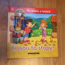 Dětská kniha ze série Hraj si a uč se – Na polích a lukách – Čí to jsou stopy
