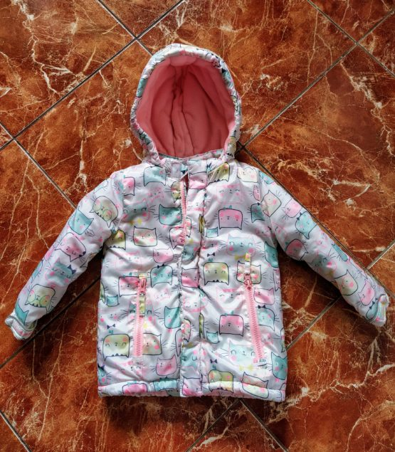 Dívčí vyteplená bunda – Kočky