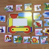 Dřevěné puzzle – Mašinka