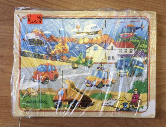 Dřevěné puzzle – Dopravní prostředky