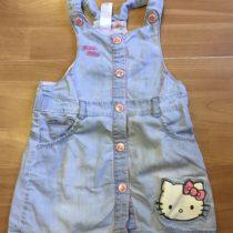 Riflové šaty Hello Kitty