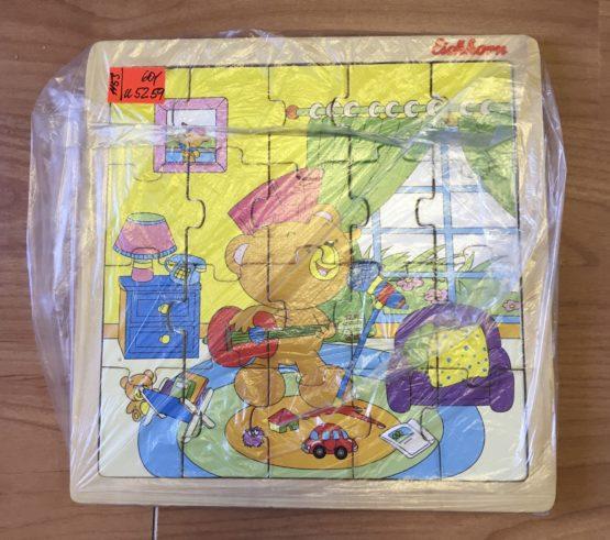 Dřevěné puzzle – zpívájící Medvěd Eichhorn