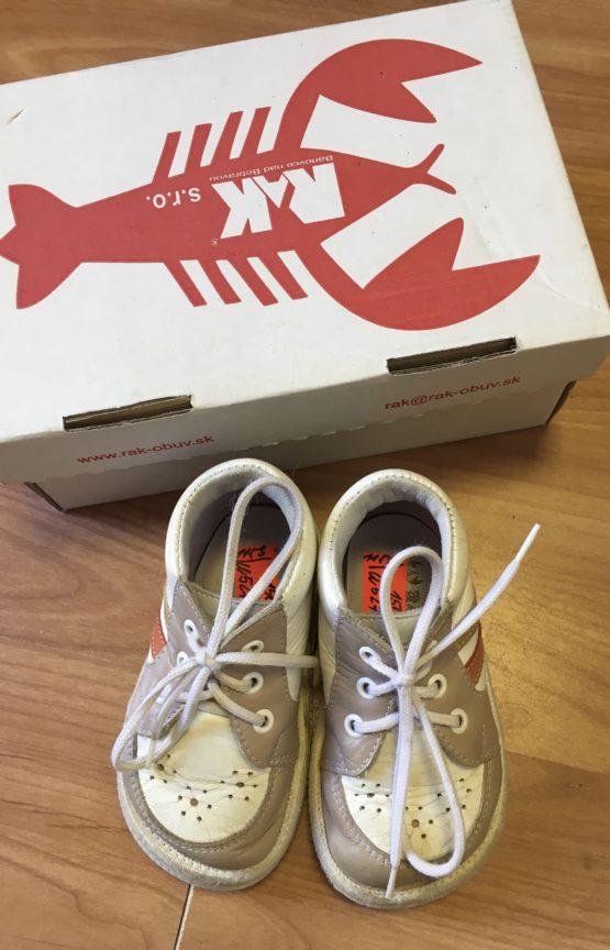 Kožené boty/capáčky Rak