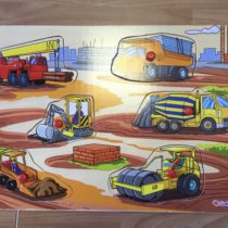 Dřevěné puzzle/vkládačka – Bagry Eichhorn