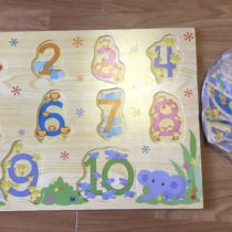 Dřevěné puzzle – Čísla