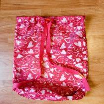 Látkový sáček/batoh se srdíčky