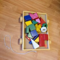 Dřevěný vozík – Ikea