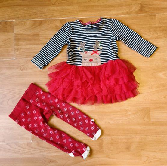 Vánoční set F&F šaty + punčochy Sob