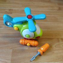 Plastový vrtulník + šroubovák