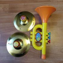 Hudební set činele + trubka