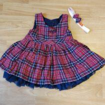 Společenské šaty stylovou sukýnkou + čelenka