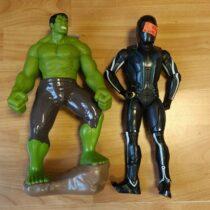 Set postaviček Tron + Hulk
