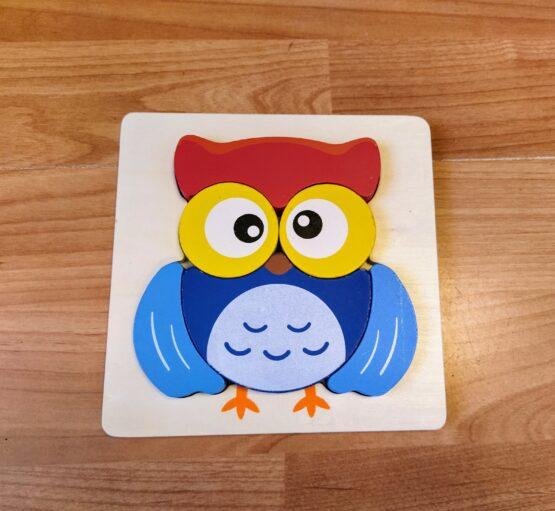 Dřevěné puzzle – Sova