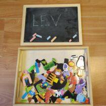 Dřevěná tabule + magnetická