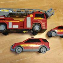 Set hasičských aut, 3ks