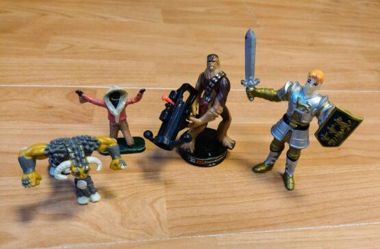 Set postaviček bojovníci, 4ks