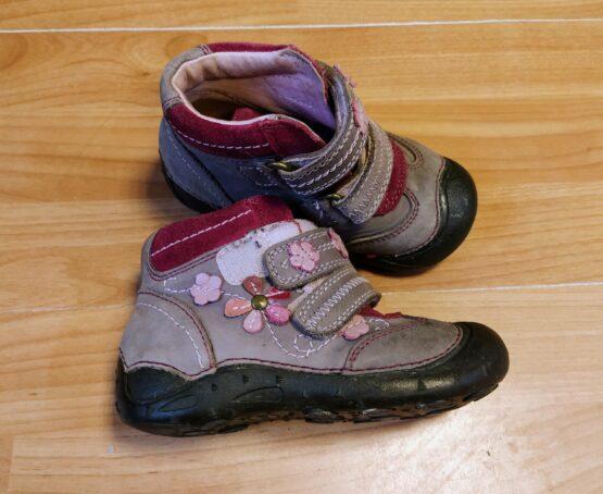 Kotníkové, kožené boty D.D.Step