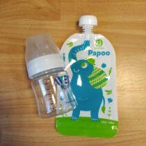 Sada kojenecká lahev 125ml + plnící kapsička