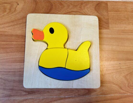 Dřevěné puzzle Playtive Junior – kačenka