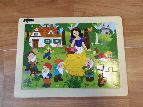 Dřevěné puzzle Sněhurka Woody