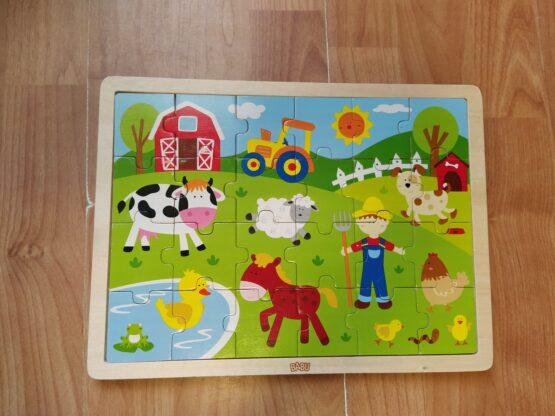 Dřevěné puzzle Babu farma/24ks