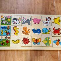 Dřevěná vkládačka/puzzle – Zvířátka
