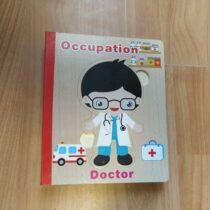 Dřevěná kniha/puzzle vangličtině