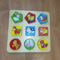 Dřevěná vkladačka/puzzle Sparkys – zvířátka