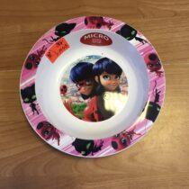Plastový talířek Kouzelná Beruška a černý kocour